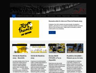 plataformarecorridosciclistas.org screenshot