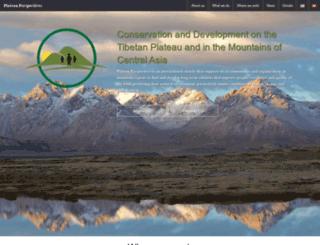 plateauperspectives.org screenshot