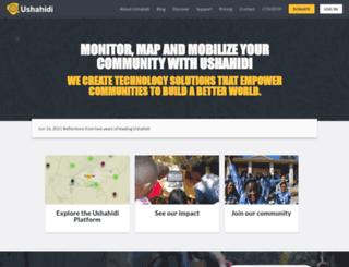 platform.ushahidi.com screenshot