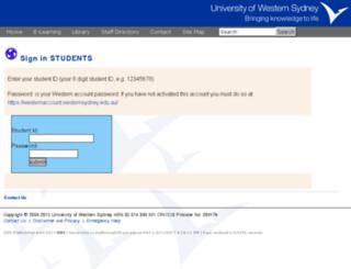 platformweb.uws.edu.au screenshot