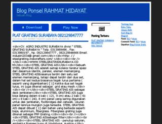 platgrating.indonesiaz.com screenshot