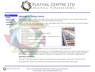 platingcentre.co.uk screenshot