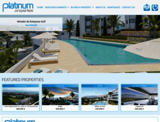 platinum-spain.com screenshot