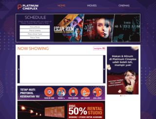 platinumcineplex.co.id screenshot