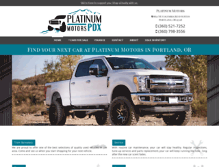platinummotorspdx.com screenshot