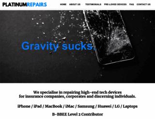 platinumrepairs.co.za screenshot