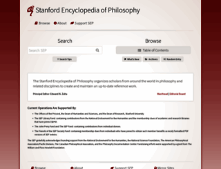 plato.stanford.edu screenshot