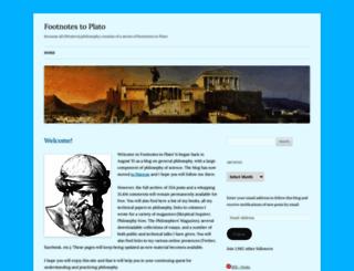 platofootnote.wordpress.com screenshot