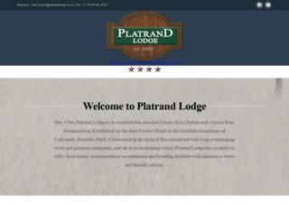 platrandlodge.co.za screenshot