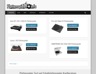 plattenspieler.info screenshot