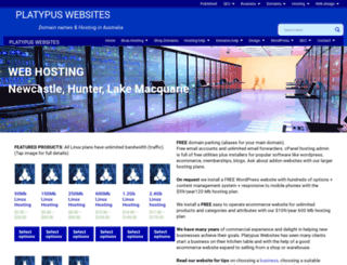 platywebs.com.au screenshot