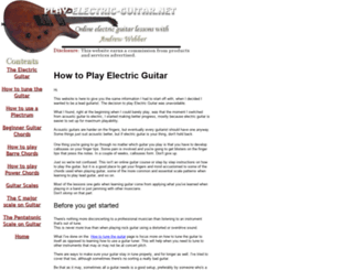 play-electric-guitar.net screenshot