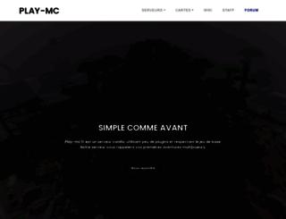 play-minecraft.fr screenshot