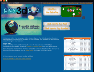 play3dpool.com screenshot