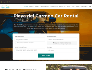 playadelcarmencarrental.com screenshot