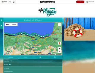 playas.diariovasco.com screenshot
