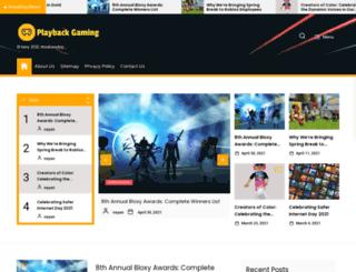 playbackgaming.com screenshot