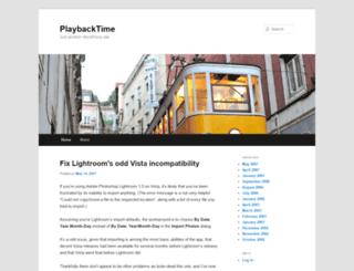 playbacktime.com screenshot