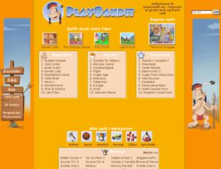 playbandit.no screenshot
