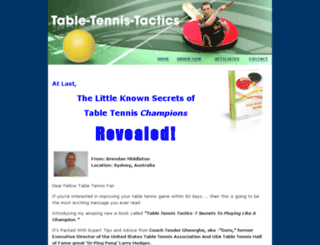 playbettertabletennis.com screenshot