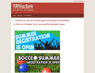 playbigapple.leagueapps.com screenshot