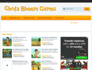 playchotabheemgames.com screenshot