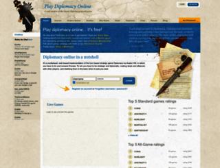 playdiplomacy.com screenshot