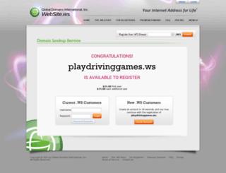 playdrivinggames.ws screenshot