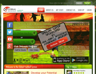 player.globalfootballsystem.com screenshot