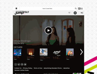 player.jumpradio.ca screenshot