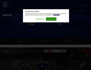 player.portsmouthfc.co.uk screenshot