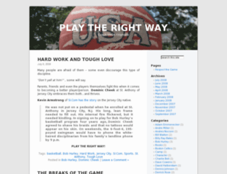 playerdevelopment.wordpress.com screenshot