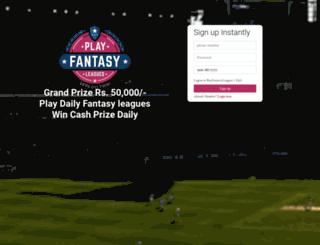 playfantasyleagues.com screenshot
