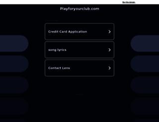 playforyourclub.com screenshot