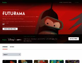 playfuturama.com screenshot