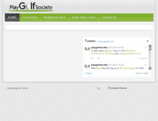 playgolfsociety.wicko.co.uk screenshot
