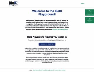 playground.bioid.com screenshot