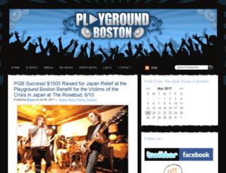playgroundboston.com screenshot