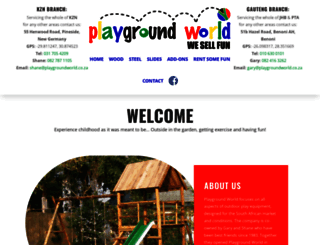 playgroundworld.co.za screenshot