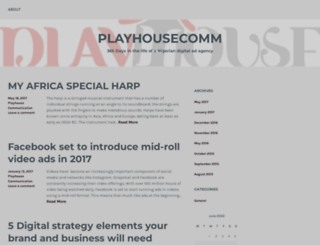 playhousecomm.wordpress.com screenshot