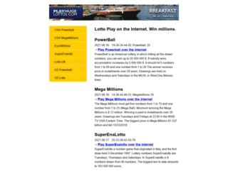 playlottery.info screenshot