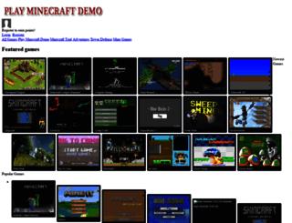 playminecraftdemo.com screenshot