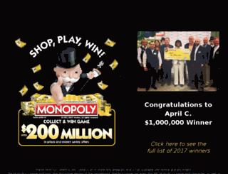 playmonopolycodes.us screenshot