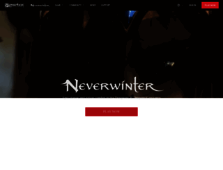 playneverwinter.com screenshot