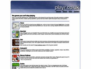 playr.co.uk screenshot