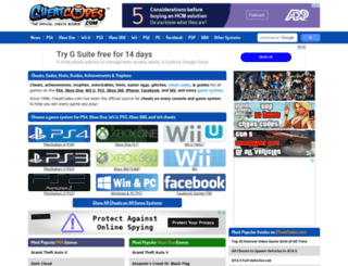 playstation-cheats.cheatcodes.com screenshot