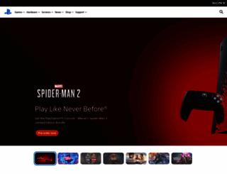 playstation.com screenshot