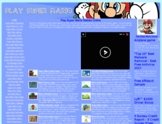 playsupermario.net screenshot