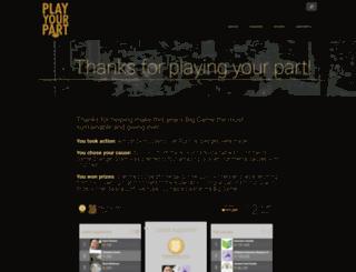 playyourpart.sfbaysuperbowl.com screenshot