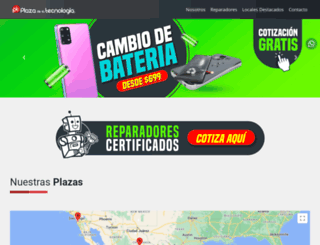 plazadelatecnologia.com screenshot
